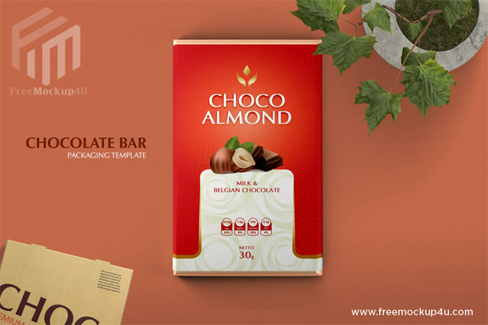 Double Side Chocolate Bar Packaging Mockups