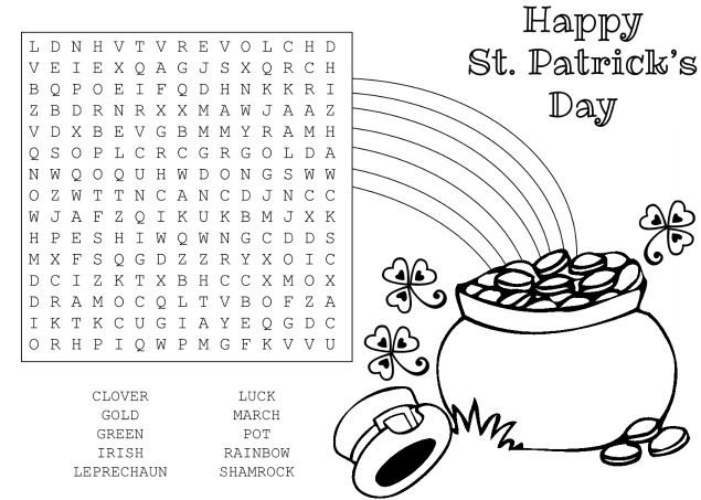 Free St Patricks Day Worksheets Printables for Kids – St Patricks Day Worksheets