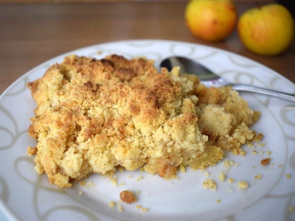 Rezept: Apple Crumble (Apfelstreuselkuchen) - einfach und lecker!
