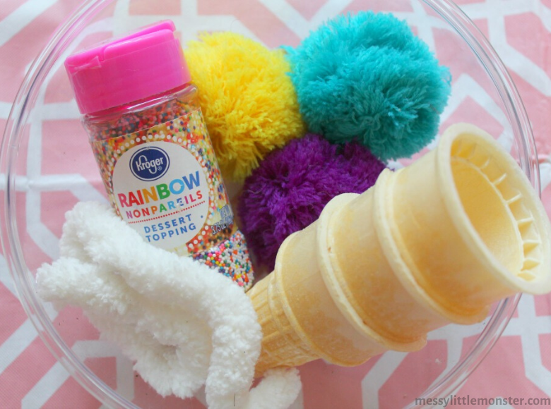 Ice cream craft supplies