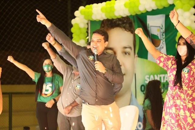 MDB realiza convenção partidária em Santana do Cariri  e homologa os nomes de Pedro Henrique e Bibiane a reeleição
