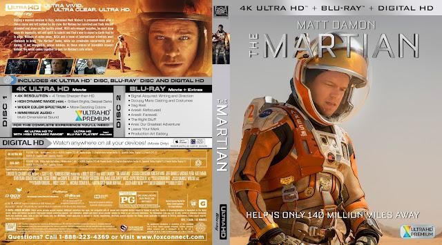 The Martian 4K Bluray Cover