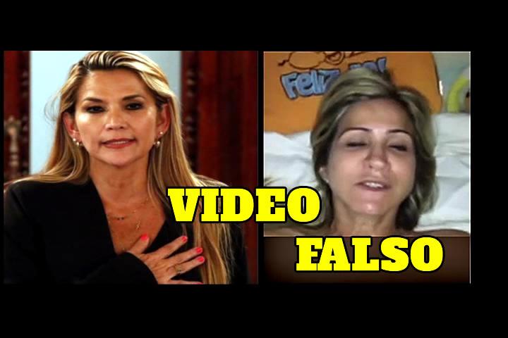 ES FALSO EL VIDEO ÍNTIMO DE LA PRESIDENTE JEANINE ÁÑEZ CHÁVEZ
