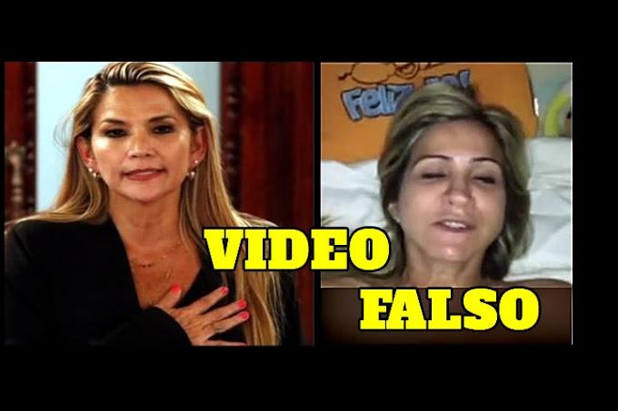 Es totalmente FALSO el video íntimo que acusa a Jeanine Áñez y que circula en redes sociales