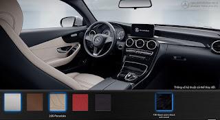 Nội thất Mercedes C300 Coupe 2018 màu Vàng Porcelain 225