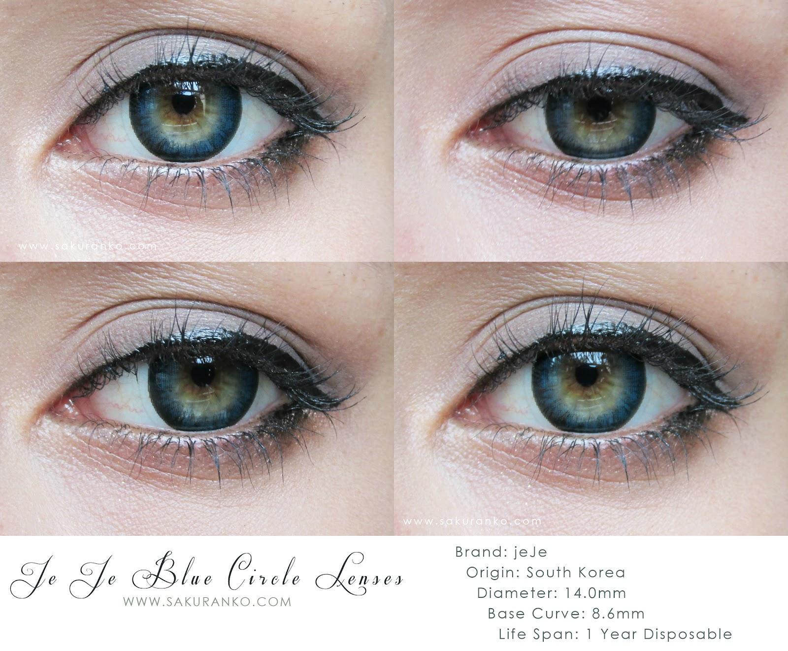 sakuranko jeje blue circle lenses review