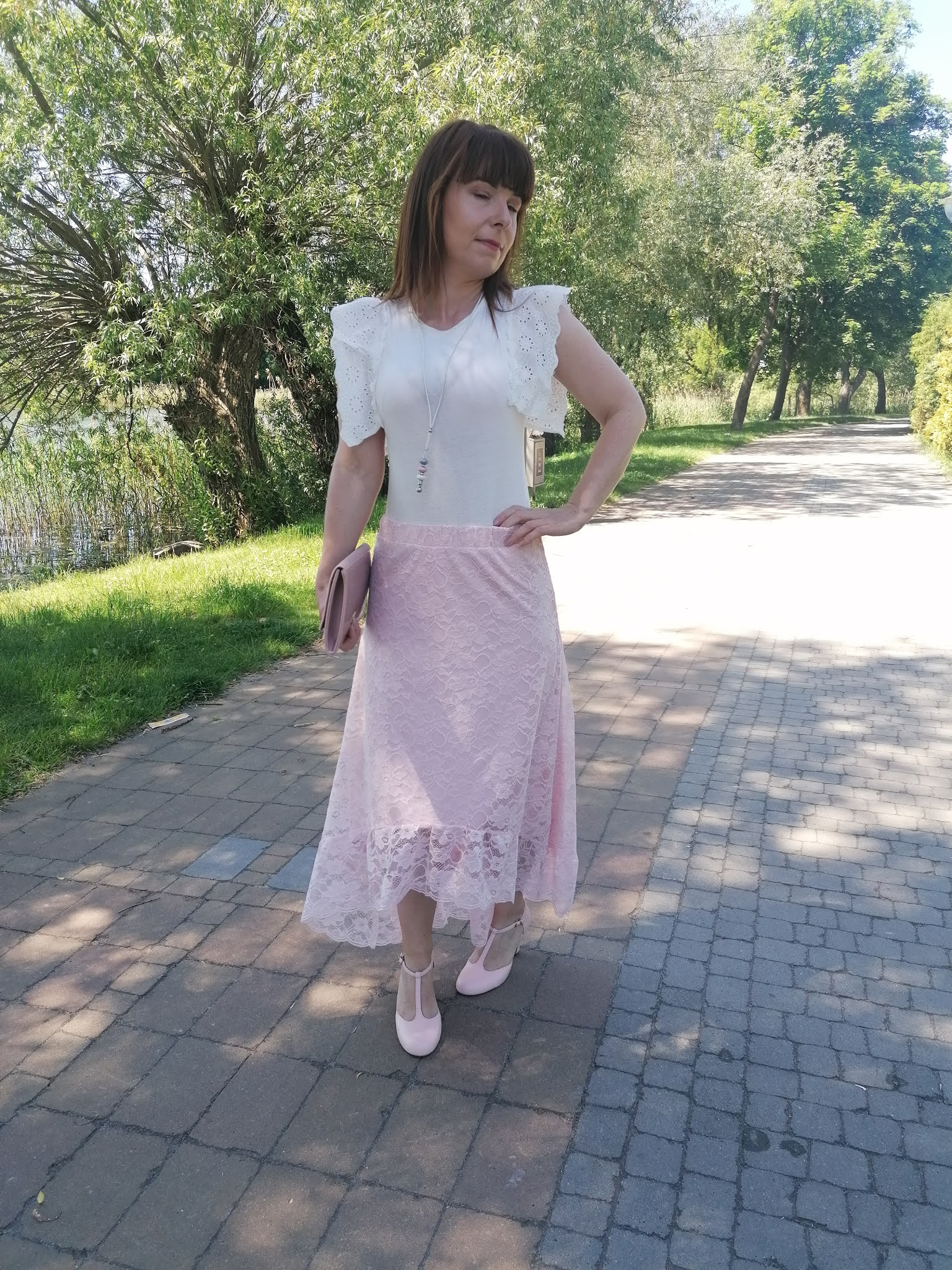 bonprix pastelowa spódnica