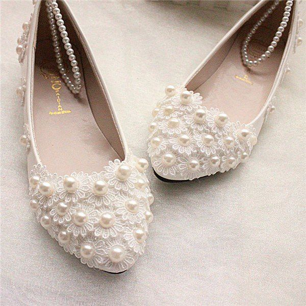 Flat Wedding Shoes For Bride
