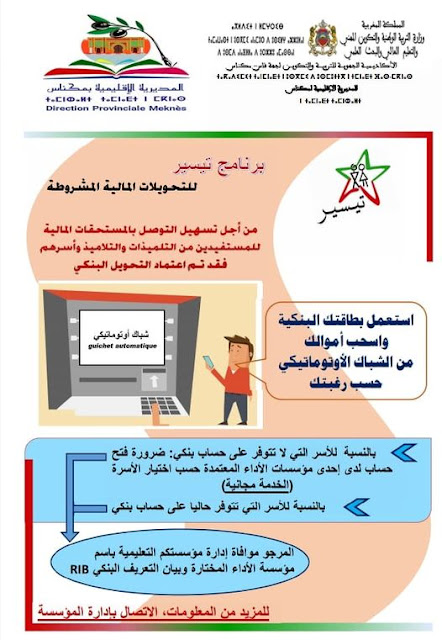 برنامج تيسير للتحويلات المالية المشروطة التحويل الأوتوماتيكي للمستحقات