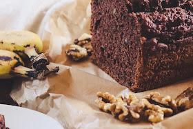 Frühstückskuchen Rezept, Schokoladenkuchen mit Banane von Miss Paperback