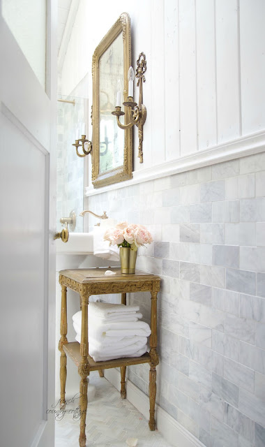 French Country Fridays- French Cottage Bathroom Renovation