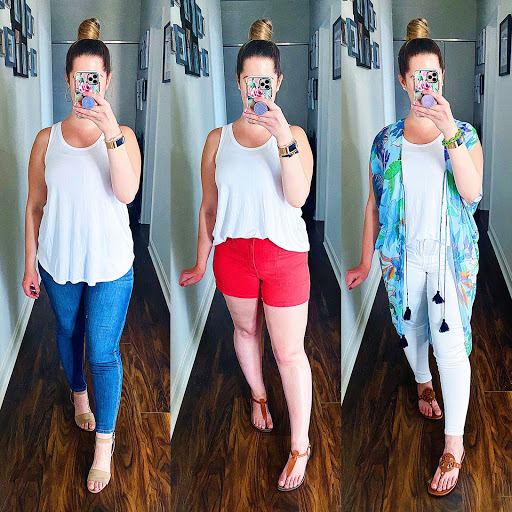 Classic White Tank Three Ways