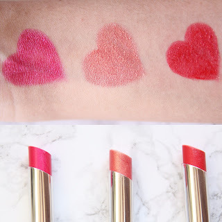 Lakme Absolute Lip Shimmer review, Swatches, Buy Online Pink flash, Crimson Pink, Tropical Shine