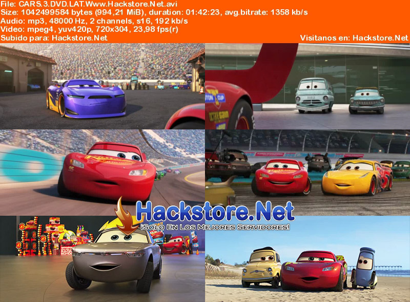 Capturas de Cars 3 (2017) DVDRip Latino + Subs
