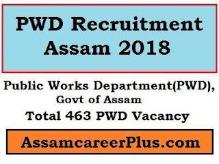 PWD Recruitment Assam Jobs 2018