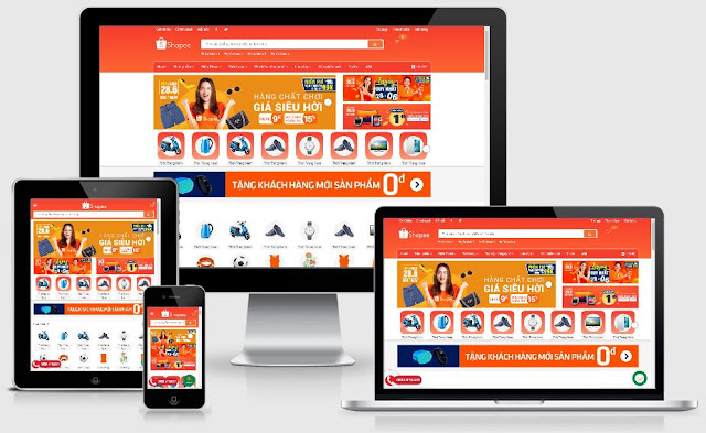 Ra mắt Theme Shopee by Blogger Premium 2019