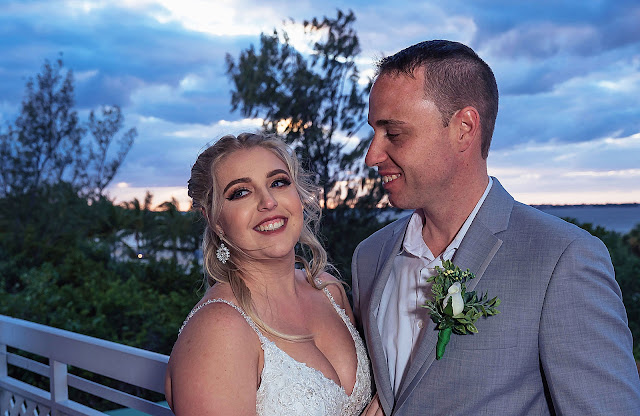 Candid portrait of Bride and Groom