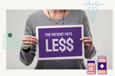 The patient pays less