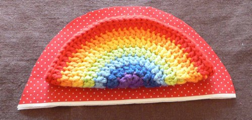 Rainbow Crochet Zipped Coin Purse Tutorial