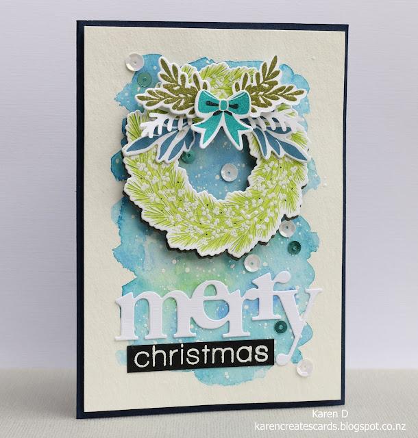 woodland wreath w plus 9 card christmas