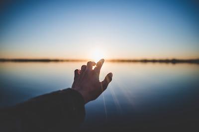 Hand towards sky choosing God Mahabharata Life lesson