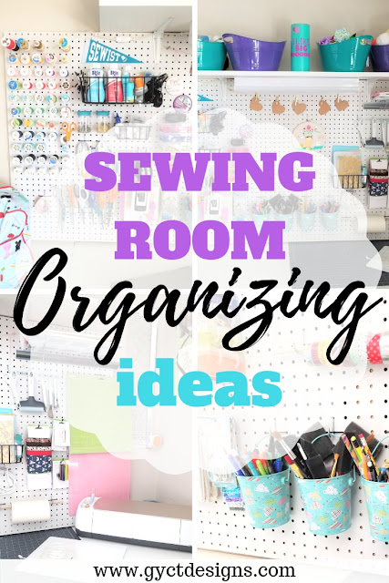 Simple Sewing Room Organization