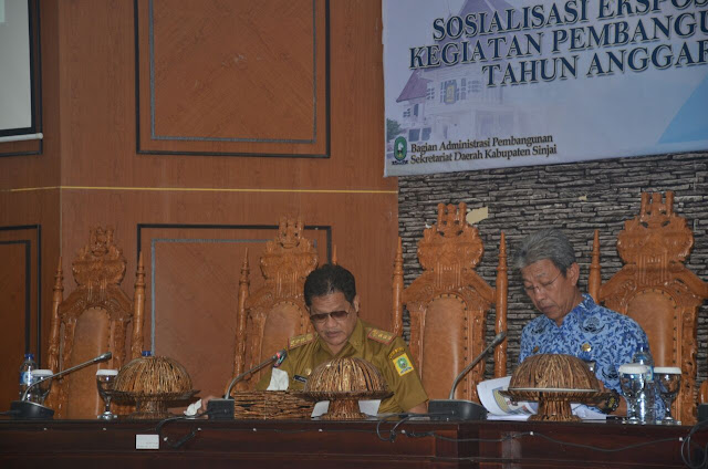 Plt Sekda Sinjai Buka Sosialisasi Ekspose Program Pembangunan