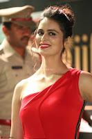 Meenakshi Dixit in Red One Shoulder Red Zipped up gown at IIFA Utsavam Award 55.JPG