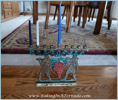 Menorah on the door-ah blog post | www.BakingInATornado.com | #humor #chanukah