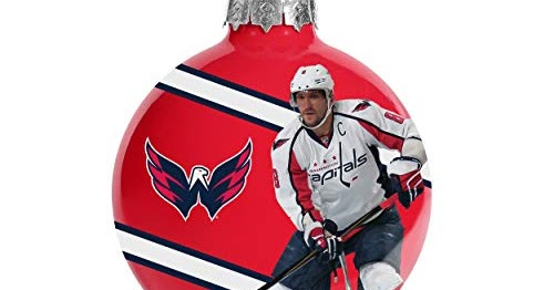 the best attitude af097 0c083 FOCO Washington Capitals 2018 Stanley Cup Champs Glass Ball Christmas Tree  Ornament-2 5/8