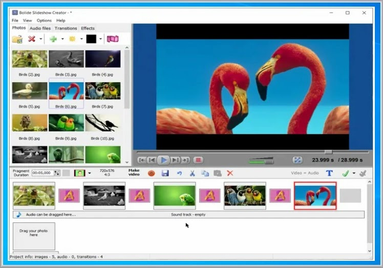 Bolide Slideshow Creator : Δημιουργήστε απλά και γρήγορα, Slideshows, σε ποιότητα HD