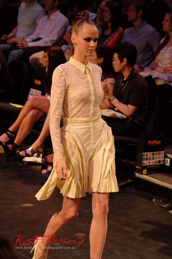 Diyana Kosso - Lace top and skirt, Raffles College 2012 Graduate Fashion Show Carriageworks, Everleigh Sydney