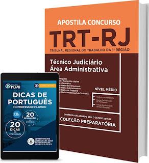Apostila TRT - RJ 2017 Cargo Técnico Judiciário Área Administrativo.