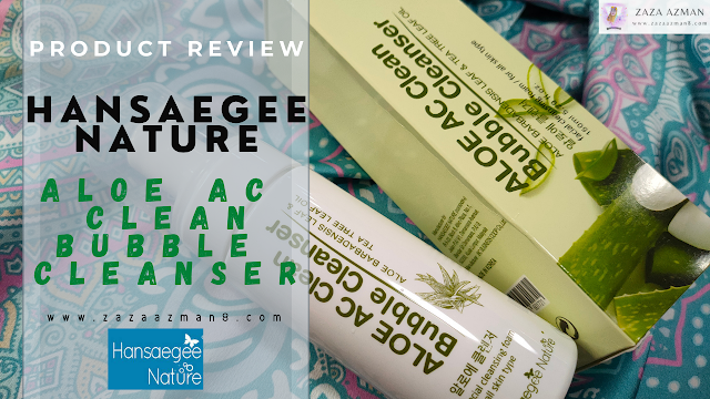 Hansaegee Nature Aloe AC Clean Bubble Cleanser Review