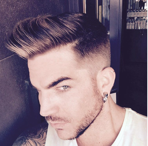 Fabulous Adam Lambert Gets A Haircut Instagram Photos From Short Hairstyles For Black Women Fulllsitofus