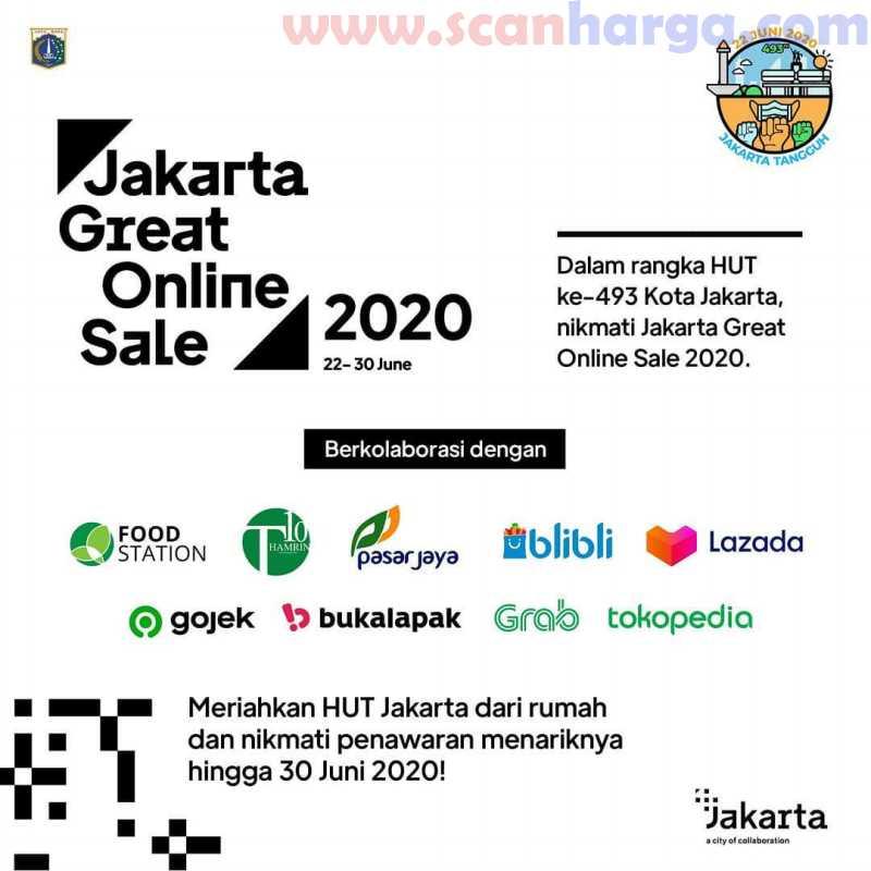 Harga Promo Jakarta Great Online Sale 2020 dan Diskon HUT Jakarta Ke-493