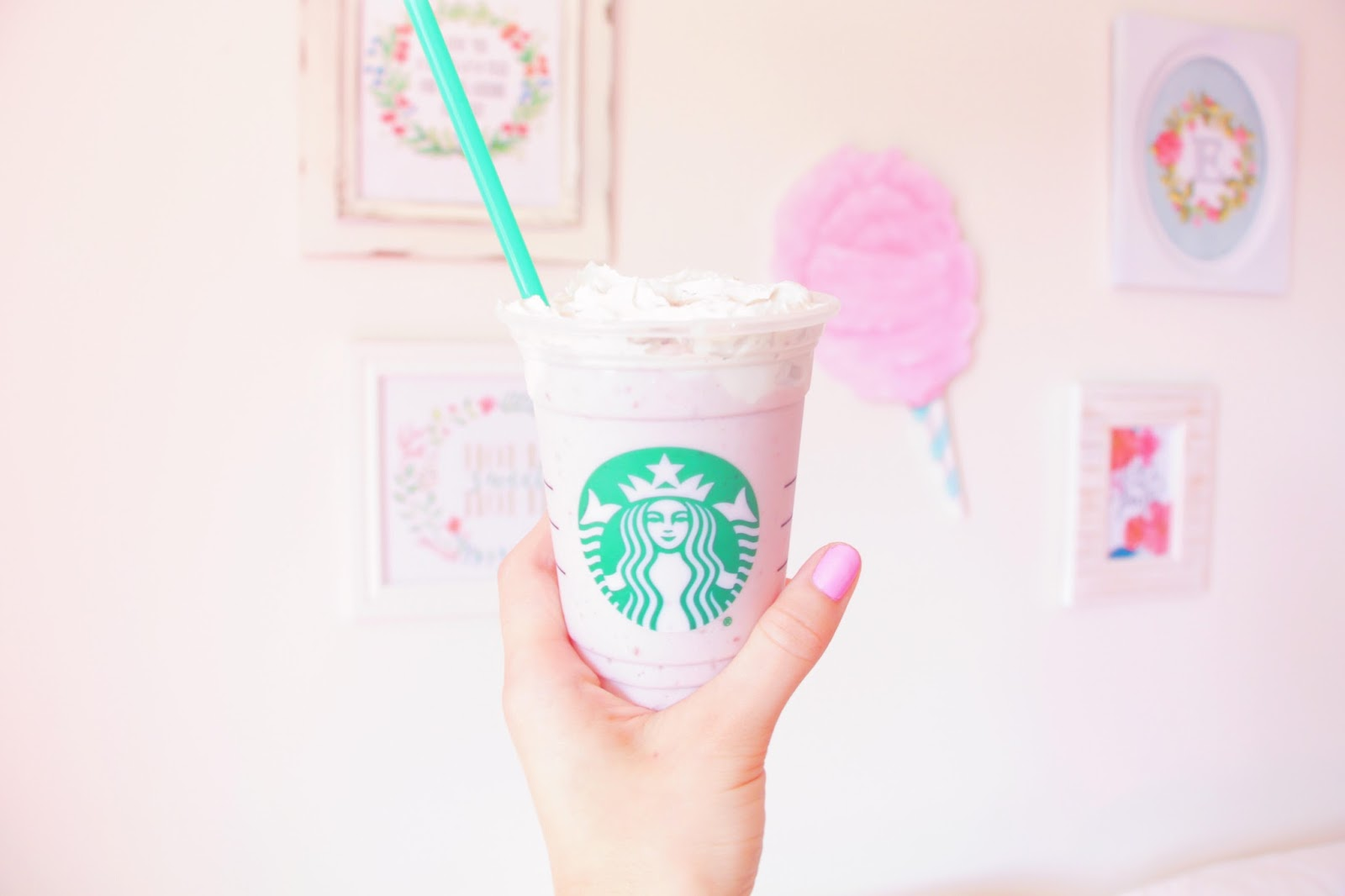 Im Back With Another Starbucks Recipe I Decided To Take The Cotton Candy Frappuccino And Make A Vegan Version Of It Was Delish
