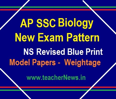 AP 10th Class Biology Model Paper, Blue Print - SSC Biological Science New Weightage 2019-20