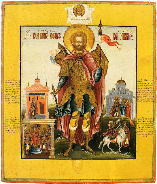Icon of John the Warrior from the Museum of Palekh Art