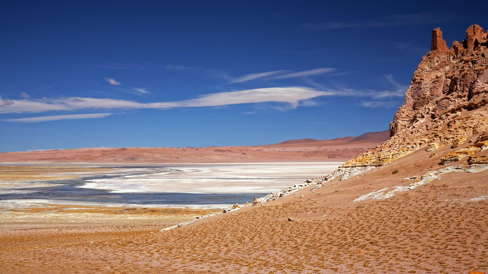 Соляная равнина в пустыне Атакама, Чили