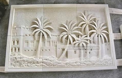 relief batu alam di bali