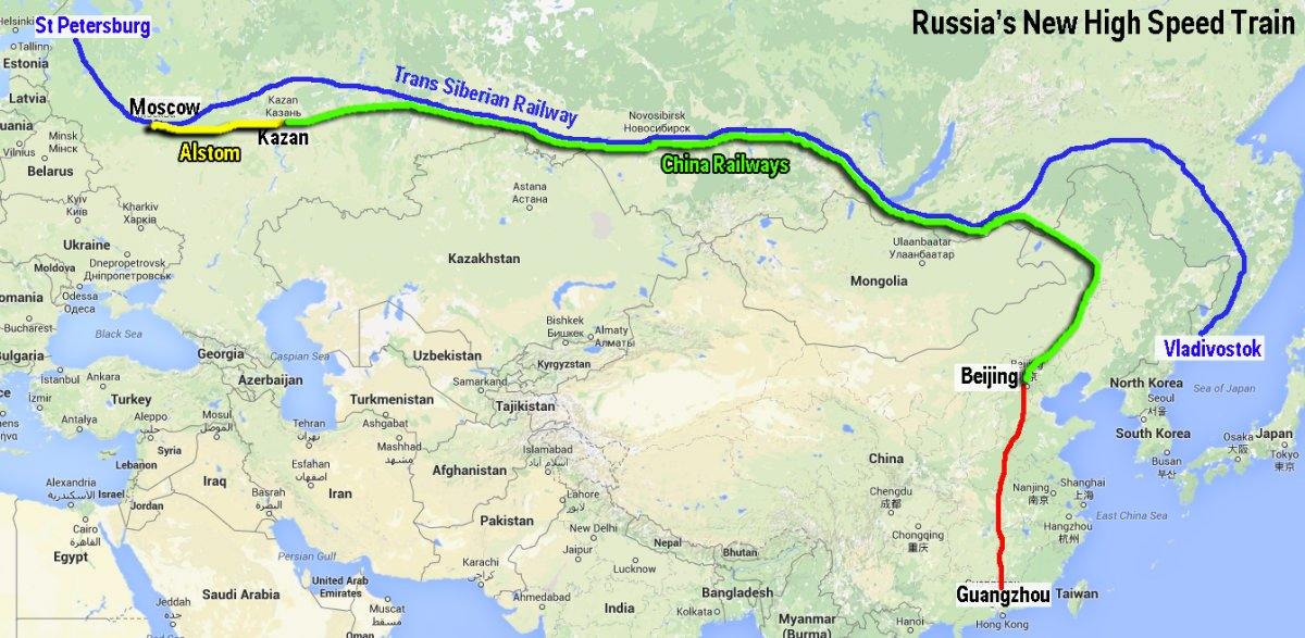 china lending russia 62 billion for russias moscow kazan high speed rail project nextbigfuturecom