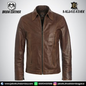 Jual Jaket Kulit Asli Garut Pria Domba Original Brida Leather B01   WA 08813430588