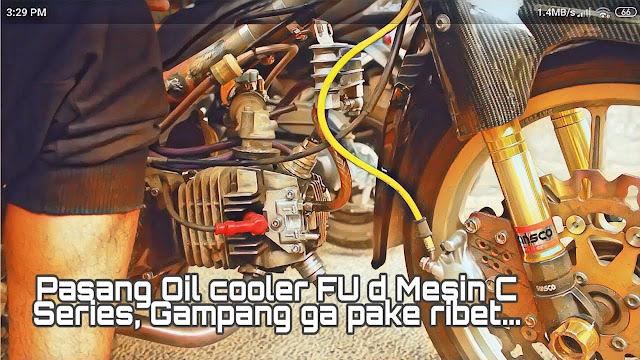 Cara pasang Oil Cooler di Motor C70 / Seri Mesin Gonda Grand