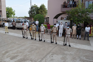 मानवसेवा के मसीहा आचार्य श्री ऋशभचन्द्रसूरि को स्थानीय पुलिस प्रषासन ने पूरे सम्मान के साथ दी अंतिम विदाई