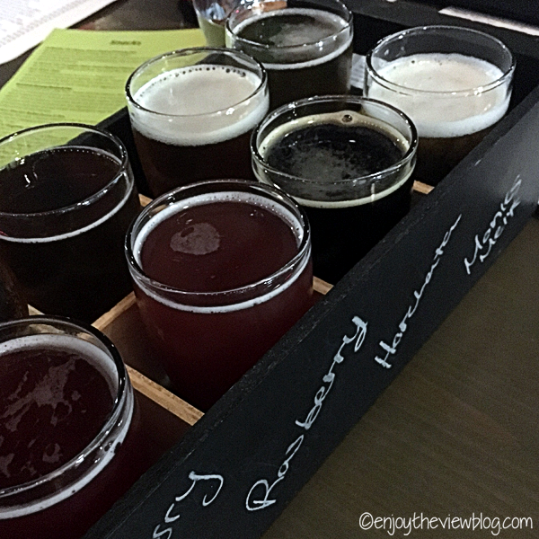 Beer flight at Six Ten Brewing in Tampa!