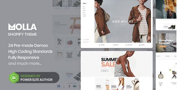 Molla - Multipurpose Responsive Shopify Theme