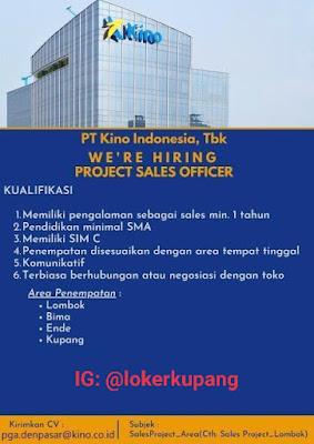 Lowongan Kerja PT Kino Indonesia Sebagai Project Sales Officer