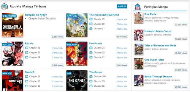 Situs baca manga online terbaik