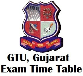 Gujarat Technological University Exam Time Table 2017